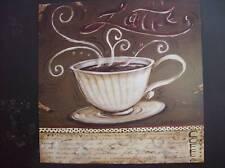 12x12 Latte coffee food art print by Kate McRostie