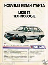Publicité advertising 1984 Nissan Stanza