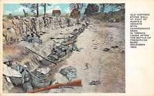 Fredericksburg Virginia Historic Stone Wall Battle Scene Antique Postcard K32819