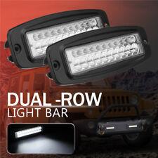 2X 7 Inch 100W LED Work Light Bar Flush Mount Flood Spot Beam Driving Fog Lamp
