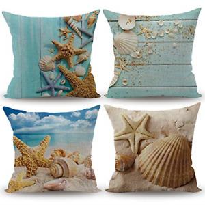 CARRIE HOME Nautical Coastal Decor Starfish/Seashell/Sand/Beach House Decorative