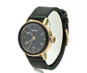 Nixon Men's The Stark Leather Strap Watch A1194 1031-00, New