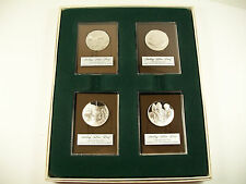 1972 Franklin Mint 4oz Sterling Silver Proof Christmas Medallions Coins