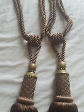 Large tassel curtain tie backs