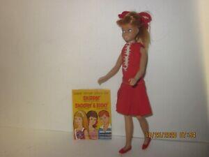 Vintage Pink Skin Band Leg Barbie SKIPPER Doll - Red Hair - Dress - Booklet