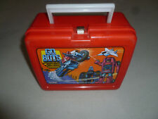 VINTAGE GO BOTS PLASTIC LUNCH BOX PAIL ONLY MIGHTY ROBOTS 1984 TONKA KING-SEELEY