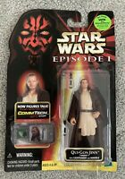 Hasbro Star Wars Episode 1 CommTalk Chip Model Action Figure Qui-Gon Jinn New