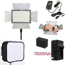 YONGNUO YN300 III LED Light 3200 5500K PRO KIT W 2 Battery Softbox Charger AC ad