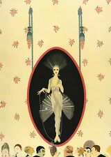 "CLASSIC ERTE' ART DECO BOOK PLATE PRINT ""THE PORTRAIT"" COSTUME FASHION"
