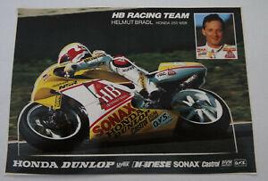 Fan-Aufkleber Honda NSR 250 Helmut Bradl Hb Racing Team Moto WM Motorsport