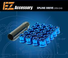 20 Pc Set Open End Spline Drive Lug Nuts | Blue | 12x1.5 Honda Accord Civic CR-V