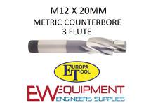 M12 X 20 mm rectificación HSS 3 flauta Europa Herramienta/Clarkson 1512011200