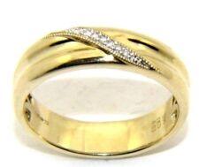 Hombre 9Ct 9 Quilates Anillo de Alianza Oro Amarillo Diamante Gb Talla W 1/2