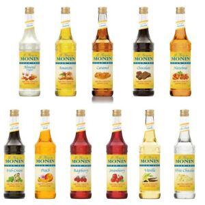Monin 1 Liter Sugar Free Flavoring Syrup, 33.8 oz (select flavor below)