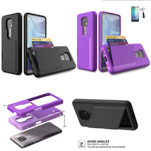 "Phone Case For Motorola Moto G Power (6.6"") Shock Absorbing Card Holder"