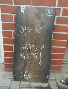 D2 Mooreiche 77x36 Bohle Brett Bog Oak Wasch Tisch Platte Altholz Drechselholz