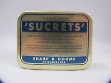 Vintage Sucrets Tin Shape & Dohme Philadelphia