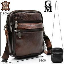 Borsello uomo moda tracolla borsa vera pelle lavoro vintage piccolo marrone nero