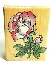Rose Rubber Stamp 2.5 X 2