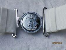 White Belt,Belt Buckle,Koppelschloß:Combined Operations,Länge:120cm