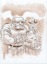 BOB FINGERMAN The Goon ORIGINAL COMIC ART Myspace Dark Horse Presents