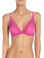 NEW Passionata 5701 Chantelle Brooklyn Lace Plunge T-Shirt Bra Hot Pink 32DDD