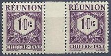 Reunion 1947 Sc# J26 postage due gutter pair MNH