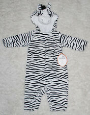 Pottery Barn Kids Baby Zebra Halloween Costume 0-6 Months 1PC Outfit Black White