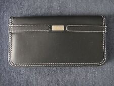 Vintage Black Faux Leather Zippered Pocketbook Purse