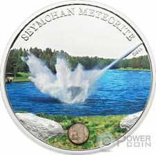 METEORITE SEYMCHAN Russia Silver Coin 5$ Cook Islands 2012