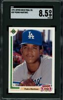 PEDRO MARTINEZ Upper Deck F.E. RC Rookie (Dodgers) HOF SGC 8.5 NM-MT+