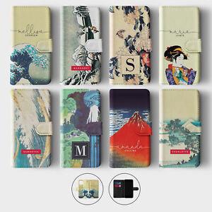 Tirita Personalised Wallet Flip Case for iPhone 12 11 SE 8 Hokusai Japan Art