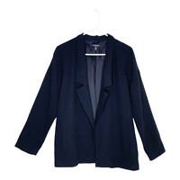 Eileen Fisher Women's 100% Silk Blazer Open Front Jacket Black Small Petites
