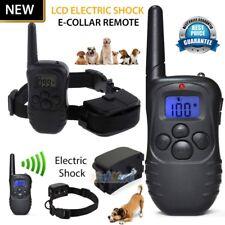 2019 Dog Shock Training Collar Electronic Remote Control Waterproof 4 Modes USA