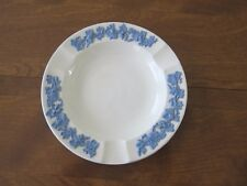 Vintage Wedgwood of Etruria & Barlaston Queen's Ware Embr. Ashtray, White, Blue