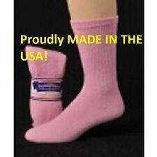 12 Pair Women's Pink Diabetic Crew Socks Size 9-11 Shoe Size 5-8