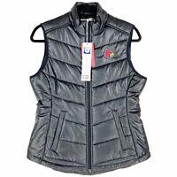 Louisville Cardinals UL Cutter & Buck Womens Puffer Puffy Vest Black Cards New