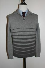 NWT $1250 ISAIA CASHMERE SWEATER, GRAY, LARGE