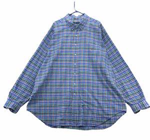 Ralph Lauren Men's Long Sleeve Button Front Shirt Size 3XLT Tall Blue White