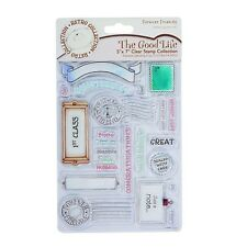 Docrafts Forever Friends the good life Jornal Best Wishes first class Briefmarke