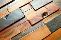 Decorative Wall Tile, Wood Wall Tile, 3D Wall Art, Wall Panels, Old Ship Mosaic