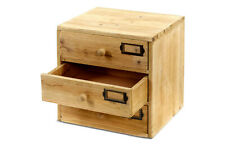 Cabinet 3 Drawers Small Organiser Storage Wooden Shabby Chic Home Office