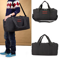 "Men's Canvas Gym Duffle Shoulder Bag Tote Travel Carry-on Luggage Handbag 22"" US"