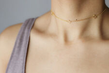 gold star necklace dainty star choker necklace minimal thin chain short necklace