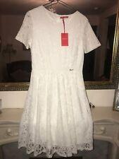 """""""JOANNA"""" (United Arab Emirates) CLASSIC WHITE LACY DRESS size LARGE BNWT"""
