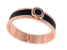 Mimco bracelet narrow hinged black with rose gold