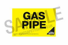 JB Gas Safe Offer - GAS PIPE self adhesive label