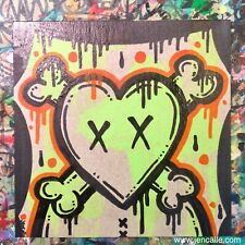 Jencalle Graffiti Art ORIGINAL Street Outsider Folk Pop Lowbrow Modern PAINTING