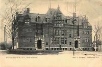 High School Building Middletown New York NY 1904 Postmarked Vintage Postcard