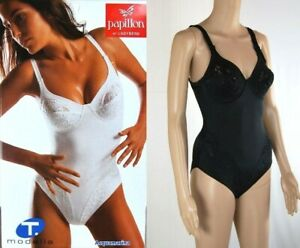 "Body Intimo Donna  PAPILLON ""Ti Modella"" Made in Italy SA011 Nero Tg 3"